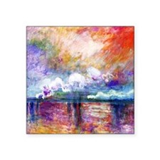 Claude Monet Charing Cross Bridge Square Sticker 3