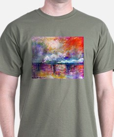 Claude Monet Charing Cross Bridge T-Shirt