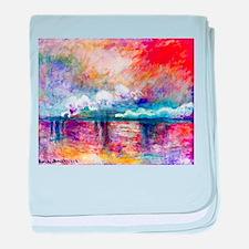 Claude Monet Charing Cross Bridge baby blanket