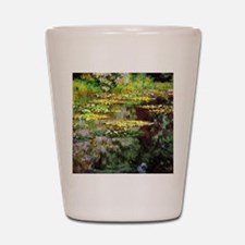 Monet Sea Rose Pond Shot Glass