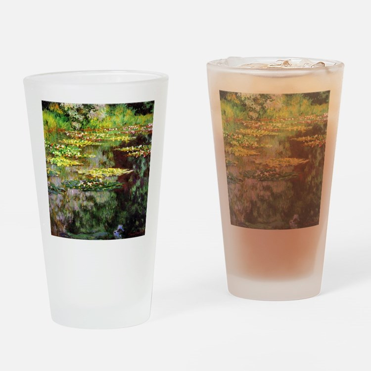 Monet Sea Rose Pond Drinking Glass