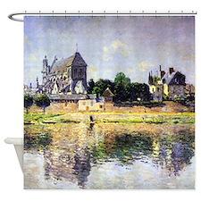 Monet's Garden in Vetheuil Shower Curtain