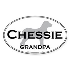 Chessie GRANDPA Oval Decal