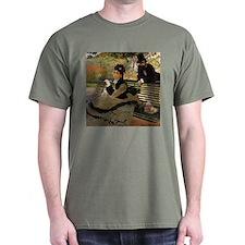 Camille Monet on a Garden Bench T-Shirt
