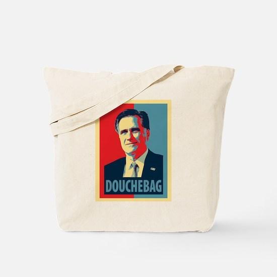 Mitt Romney Douchebag Tote Bag