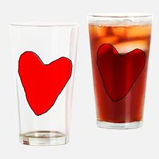 RoughHeart Drinking Glass