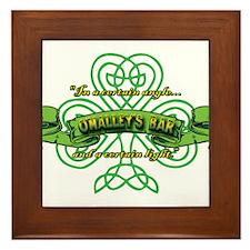 O'Malley's Bar Framed Tile