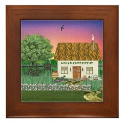 Sunrise Cottage Framed Tile