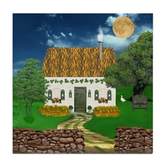 Storm Cottage Scene Ceramic Tile