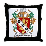 MacGibbons Coat of Arms Throw Pillow