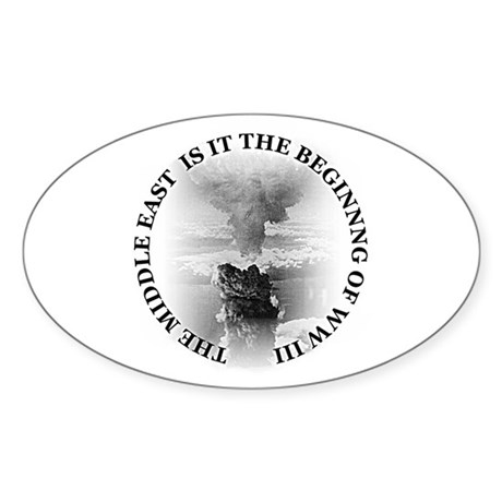 Middle East! Oval Sticker