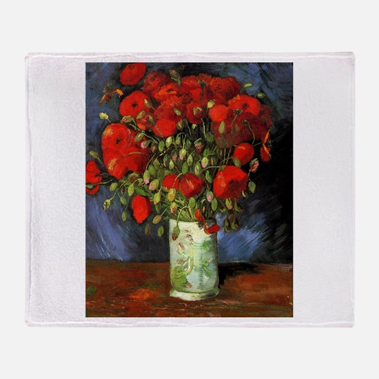 Van Gogh Red Poppies Throw Blanket