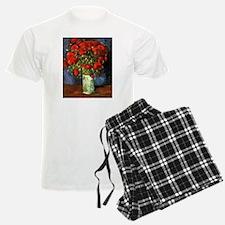Van Gogh Red Poppies Pajamas