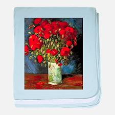 Van Gogh Red Poppies baby blanket