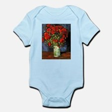 Van Gogh Red Poppies Infant Bodysuit