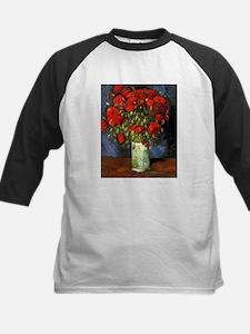 Van Gogh Red Poppies Kids Baseball Jersey