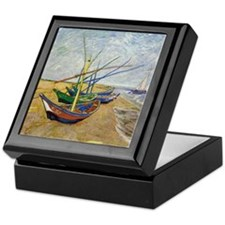 Van Gogh Fishing Boats Keepsake Box