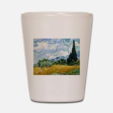 Van Gogh Wheat Field With Cypresses Shot Glass