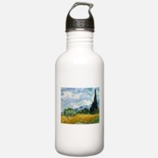 Van Gogh Wheat Field With Cypresses Water Bottle