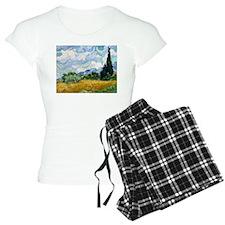 Van Gogh Wheat Field With Cypresses Pajamas