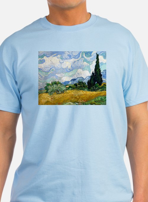 Van Gogh Wheat Field With Cypresses T-Shirt