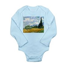 Van Gogh Wheat Field With Cypresses Long Sleeve In