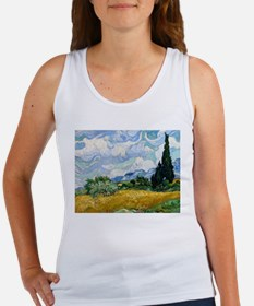Van Gogh Wheat Field With Cypresses Women's Tank T