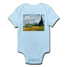 Van Gogh Wheat Field With Cypresses Infant Bodysui