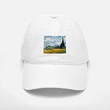 Van Gogh Wheat Field With Cypresses Baseball Baseball Cap