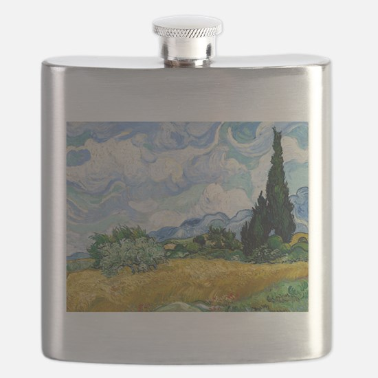 Van Gogh Wheat Field With Cypresses Flask