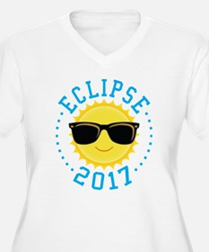 Cute Sun Eclipse 2017 Plus Size T-Shirt