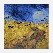 Van Gogh Wheatfield with Crows Tile Coaster