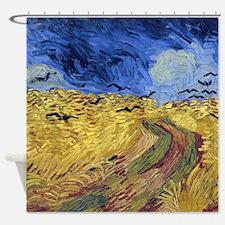 Van Gogh Wheatfield with Crows Shower Curtain