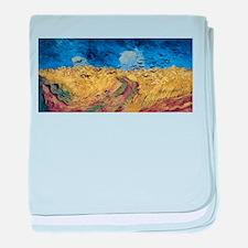 Van Gogh Wheatfield with Crows baby blanket
