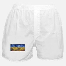 Van Gogh Wheatfield with Crows Boxer Shorts