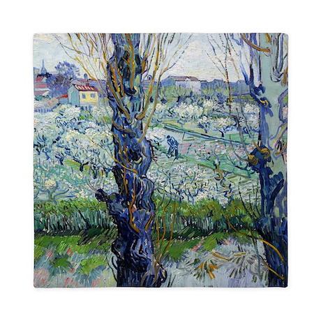 Van Gogh Flowering Orchards Queen Duvet