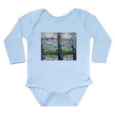 Van Gogh Flowering Orchards Long Sleeve Infant Bod