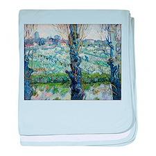 Van Gogh Flowering Orchards baby blanket