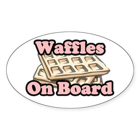 """""""Waffles on Board"""" Sticker"""