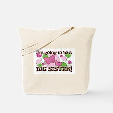 Big Sister Butterflies and Polka Dots Tote Bag