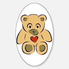 Teddy Bear With Heart Decal