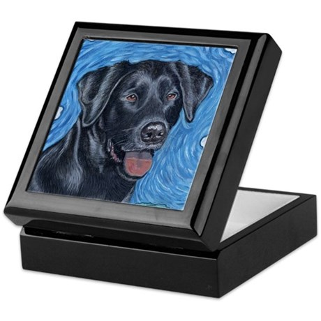 Jake, the black lab Keepsake Box