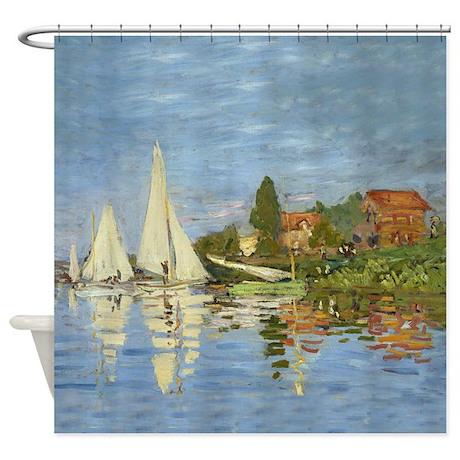 Monet - Regattas Shower Curtain