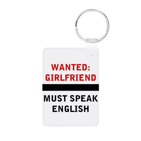 Wanted Girlfriend Must Speak English Aluminum Phot