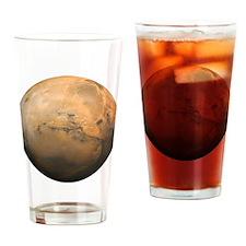 Mars Valles Marineris Drinking Glass