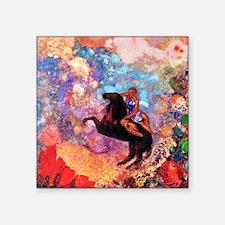 "Odilon Redon Muse On Pegasus Square Sticker 3"" x 3"
