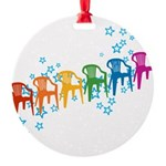 plasticchairrow_rw.png Round Ornament