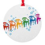 plasticchairrow_rw.png Round Ornament