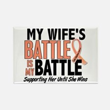 My Battle Too Uterine Cancer Rectangle Magnet (10