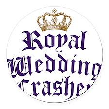 royal-wedding-crasher.png Round Car Magnet